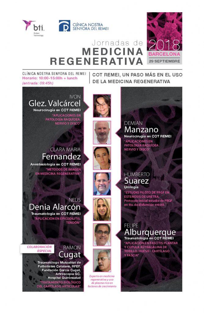 Jornada Medicina Regenerativa 2018 COT REMEI