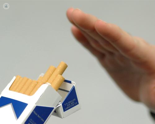 El efecto secundario cuando ha dejado a fumar